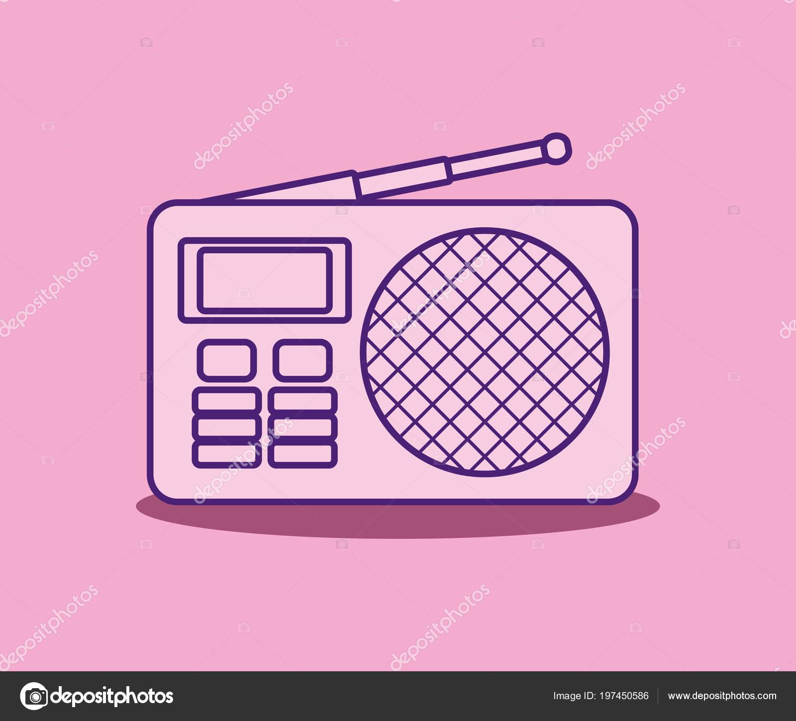 Retro radio design — Stock Vector © djv #197450586
