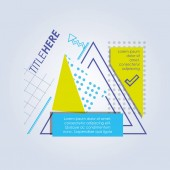 Šablona infografiku s obrázky geometrie