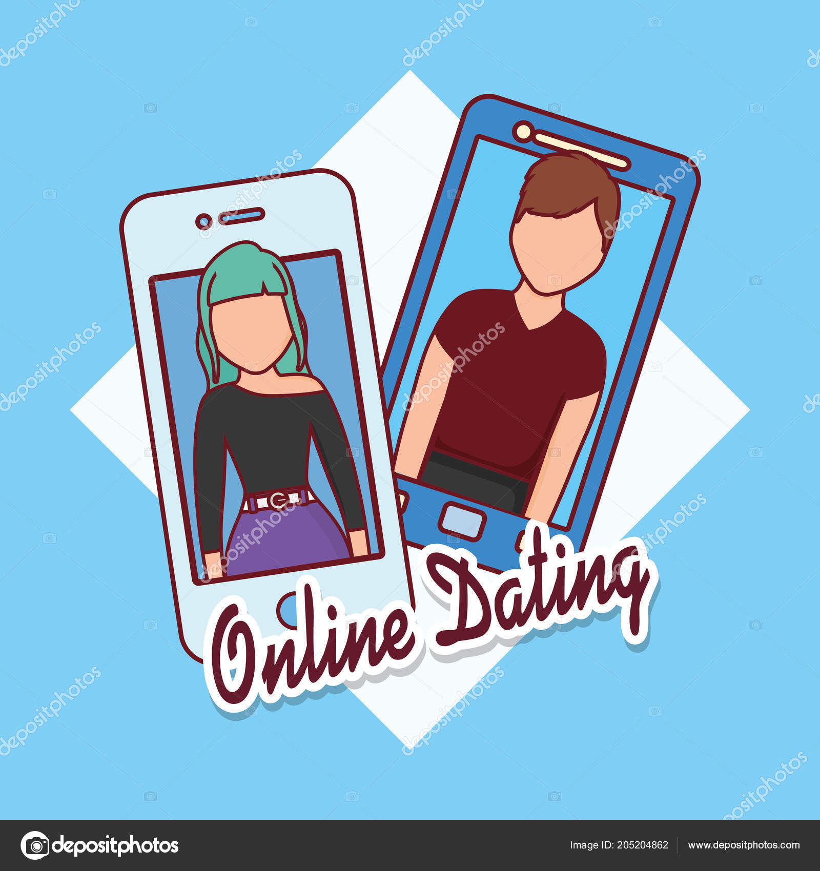 online dating illustration