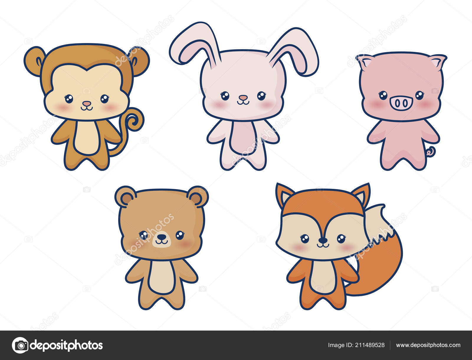 Diseño De Animales Kawaii