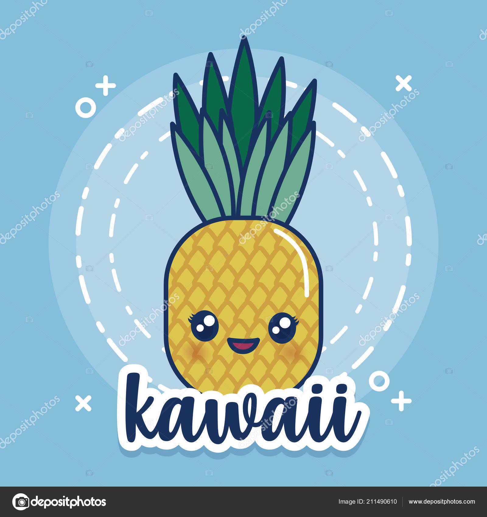 Kawaii Pineapple Icon Stock Vector Djv 211490610
