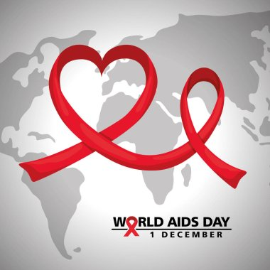 world aids day with earth planet