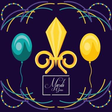 balloons helium of mardi gras celebration