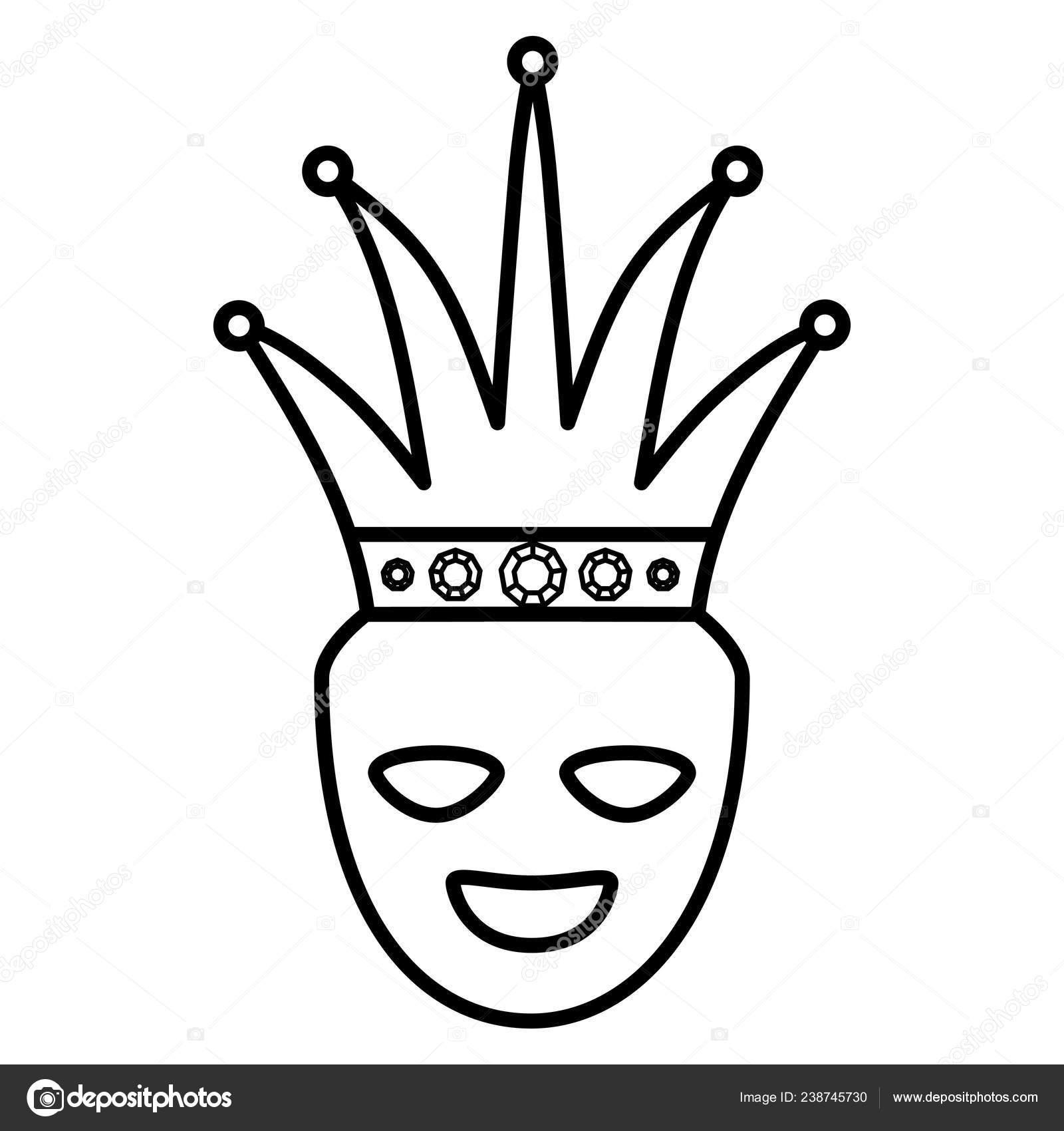 Teatro máscaras felices con corona — Vector de stock © djv  238745730 a046bb17582