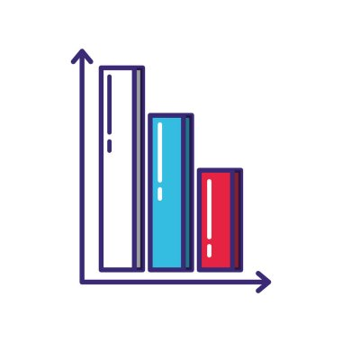 statistics bars infographic icon