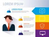 businesman ikonami infografiku a podnikání