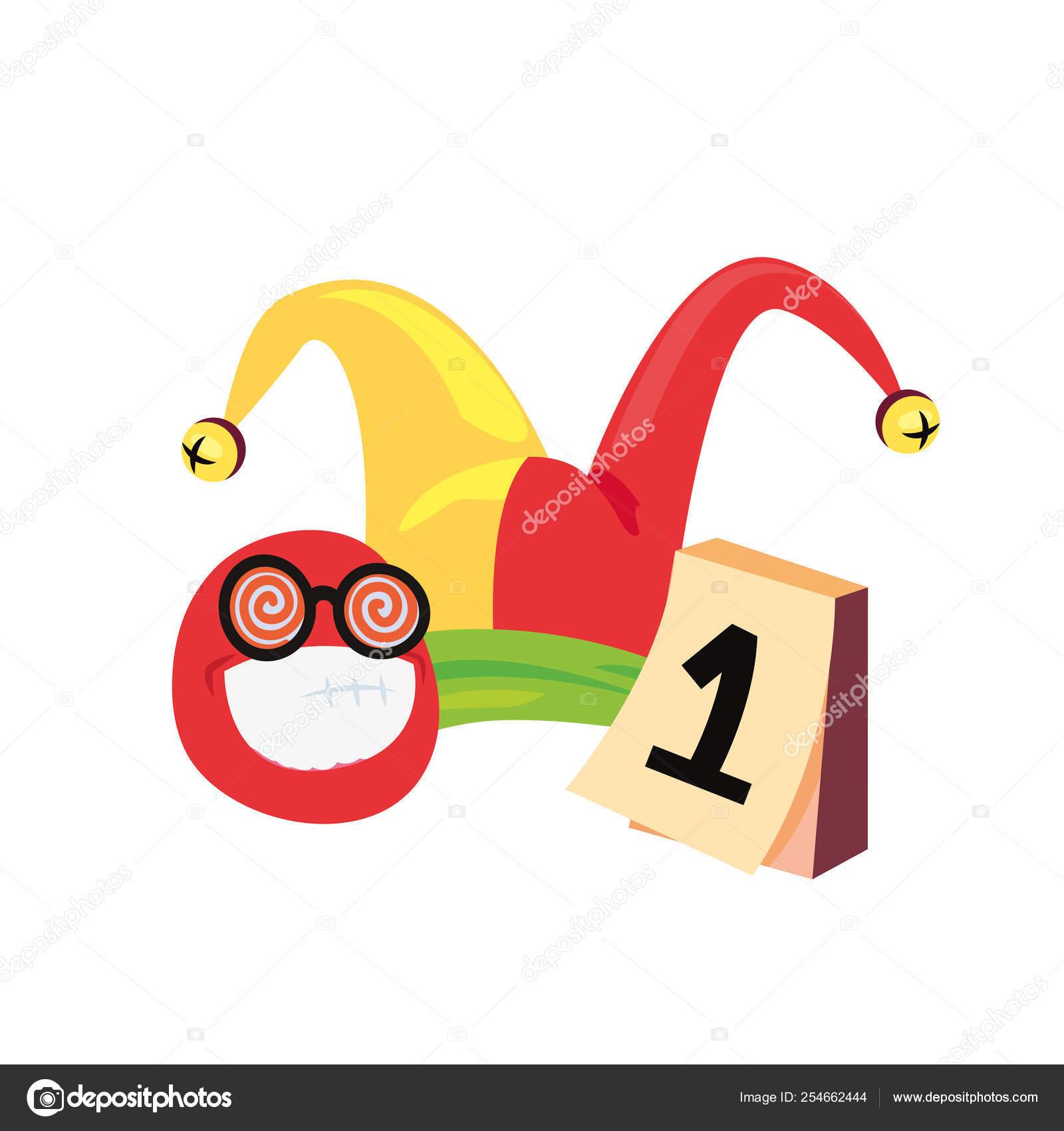 Emoji Del Calendario.Sombrero De Emoji Calendario De Los Inocentes Vector De