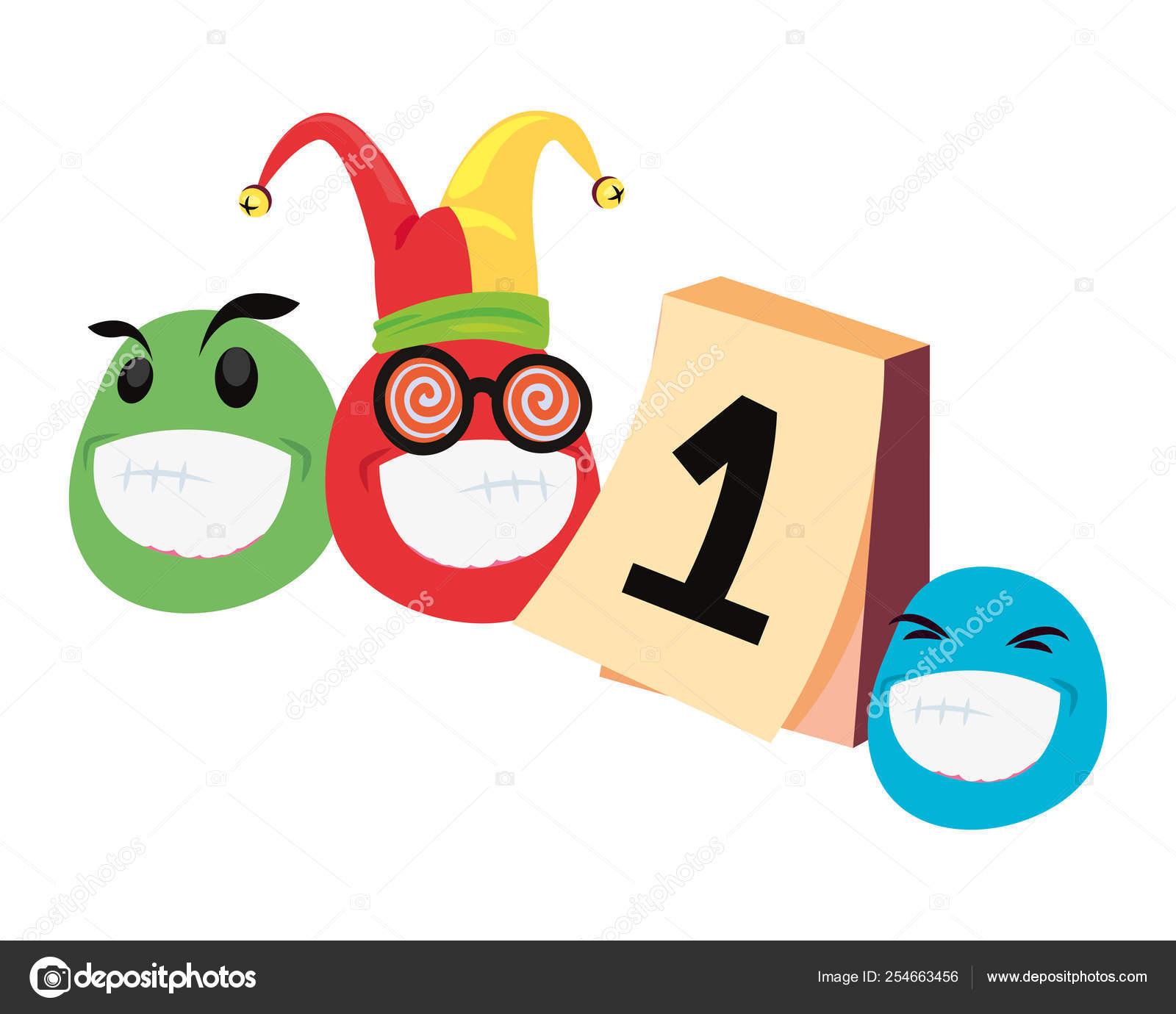 Emoji Del Calendario.Humor De Emoji Sombrero Calendario De Los Inocentes Vector