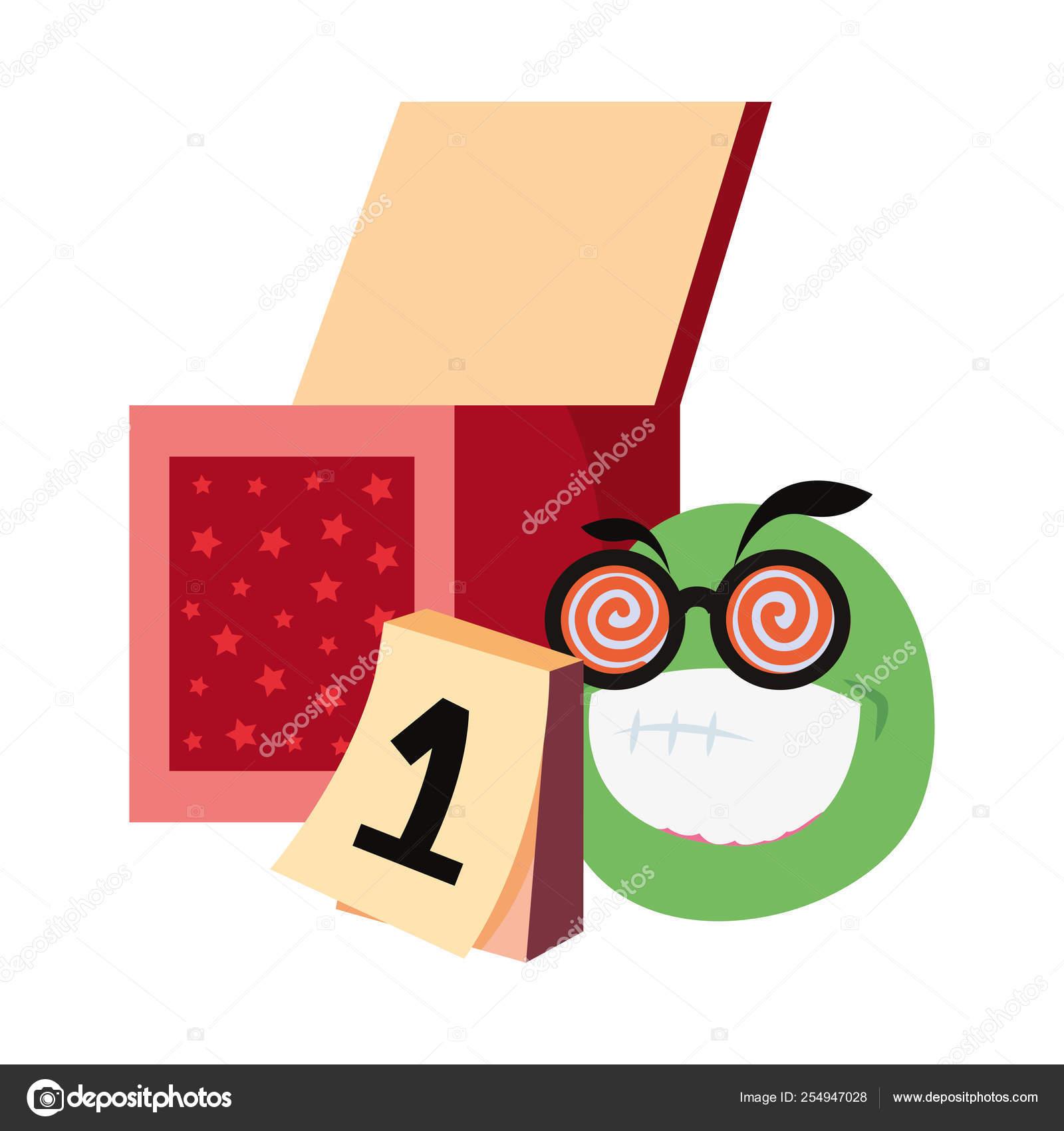 Emoji Del Calendario.Cuadro De Calendario Emoji De Los Inocentes Vector De