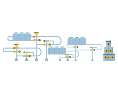 pipeline petroleum industry with barrels