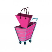 cart with bag shopping isolated icon