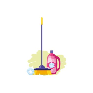 Isolated cleaning detergent and brush design
