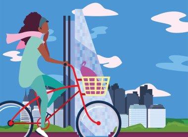 """Картина, постер, плакат, фотообои """"люди верхом на велосипеде деятельности изображение"""", артикул 283567334"""