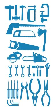 Construction tools icon set pack, High Quality variety symbols Vector illustration icon