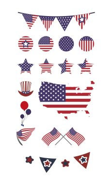 Usa icon set pack, High Quality variety symbols Vector illustration icon