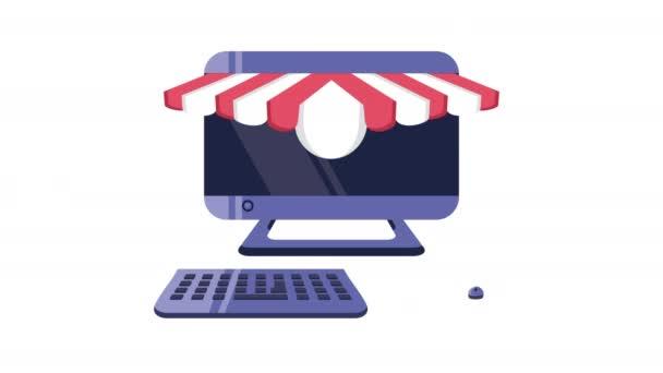 asztali vásárlás online animáció