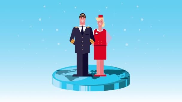 animace postav policistů a letušek