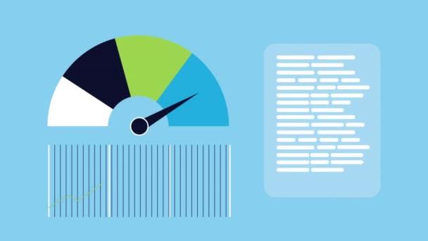 statisztika infografikai adatok animációja űrszelvénnyel