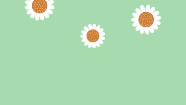 zahradničení animace s květinami vzor pozadí