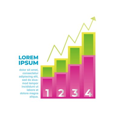 Infographic diagram report growth arrow business vector illustration icon