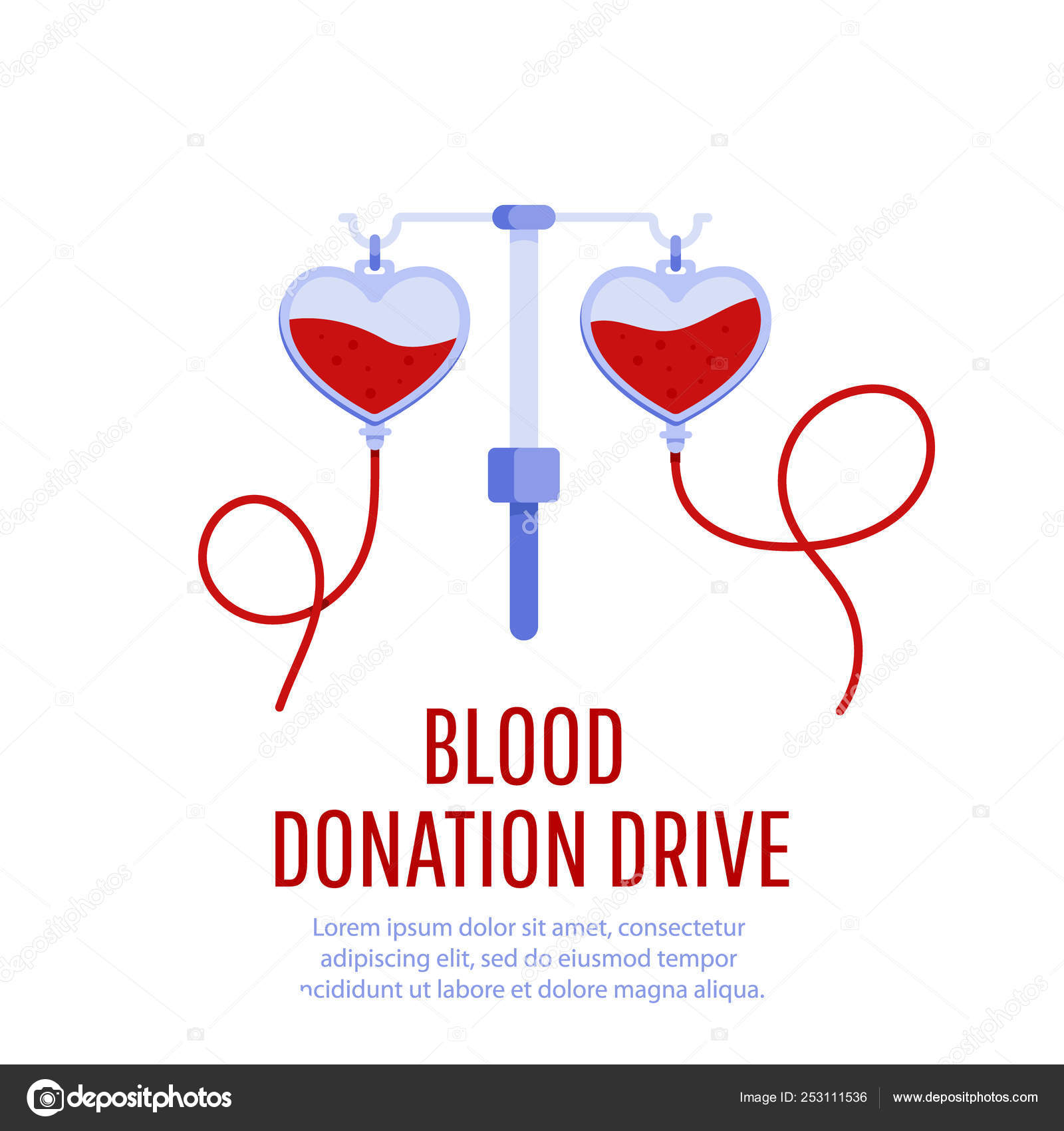 Blood Donation Drive Design Poster Stock Vector