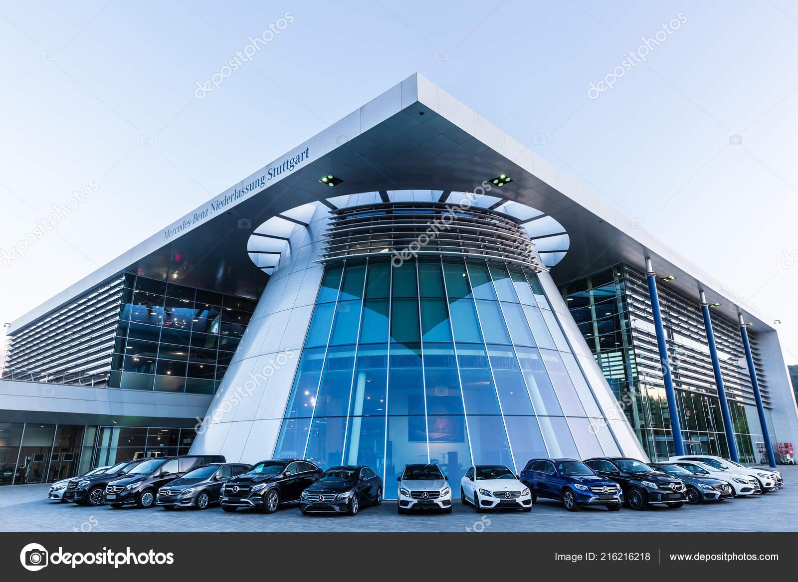 Mercedes Benz Germany >> Stuttgart Germany September 2018 Mercedes Benz Headquarters Dusk