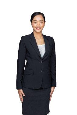 asian lady with business uniform suite