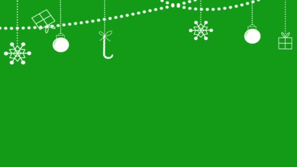 Festival decorative lights motion graphics with green screen background