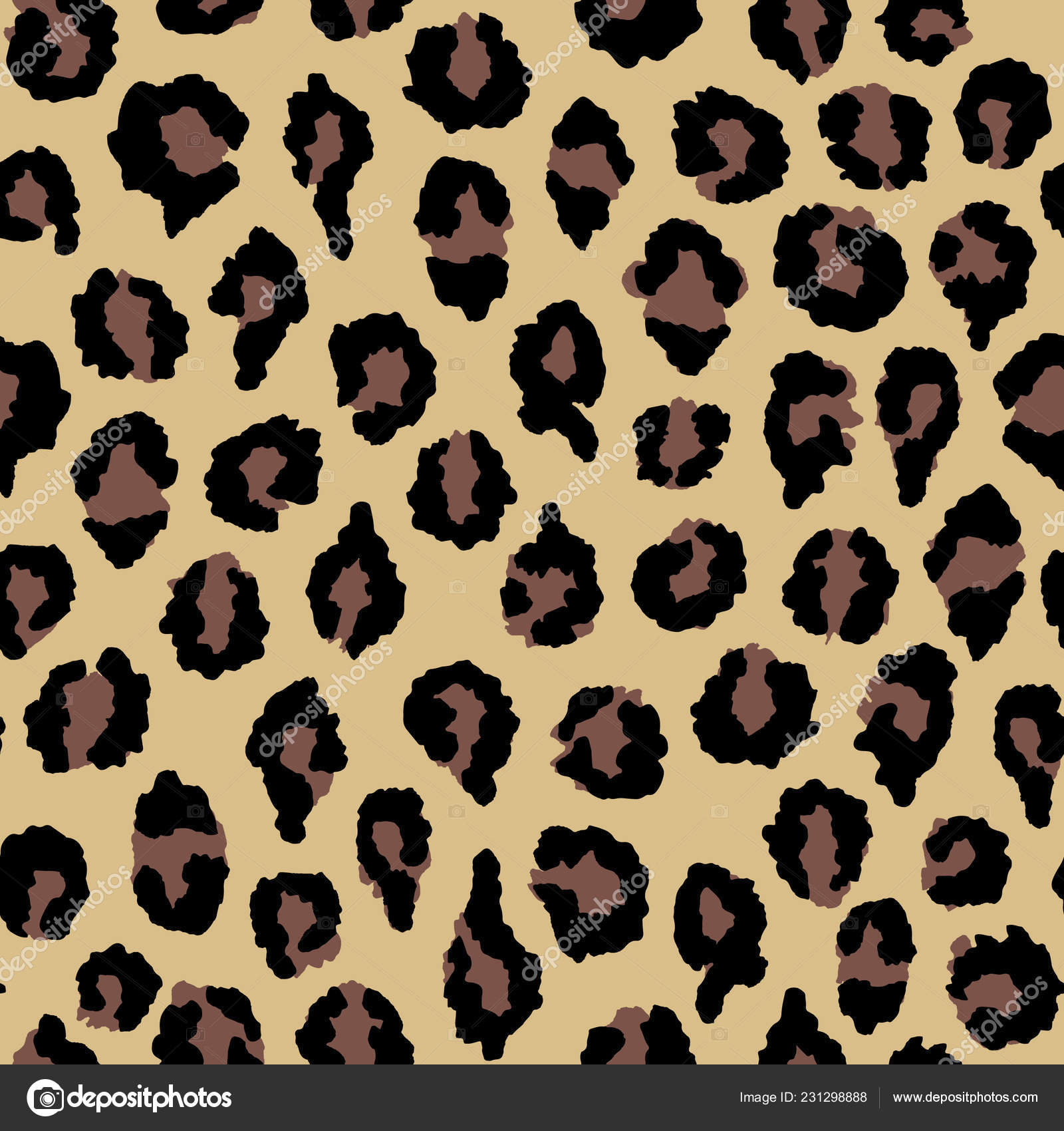 Textured Animal Print Wallpaper Seamless Pattern Leopard