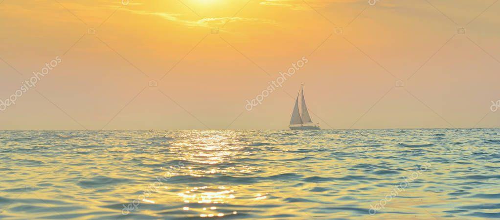Sailboat in the Adriatic sea.