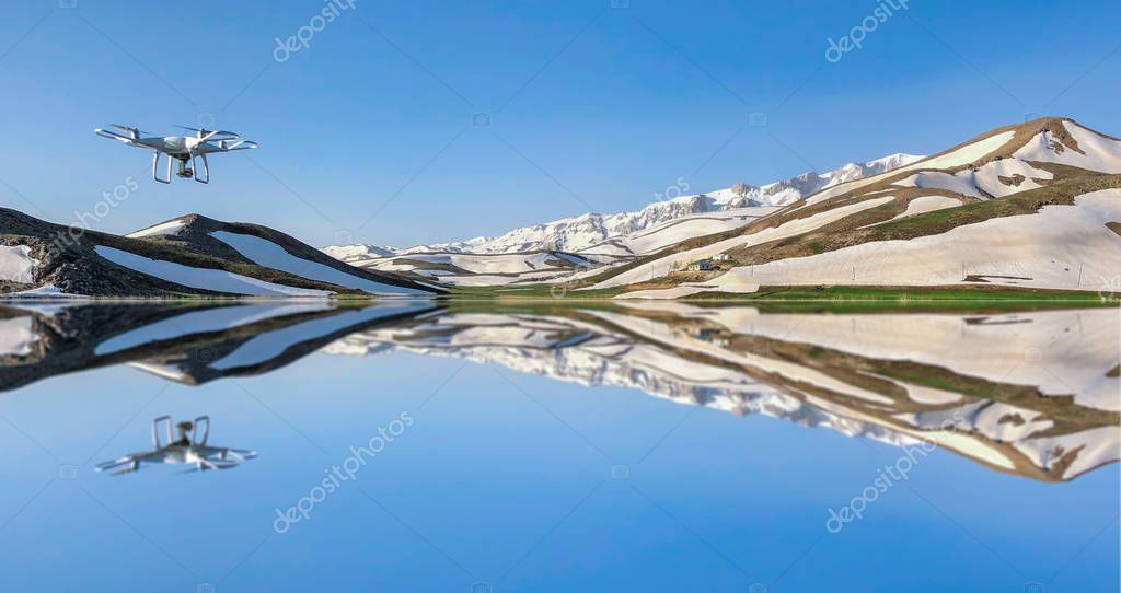 spectacular scenery with mountain lakes and reflections