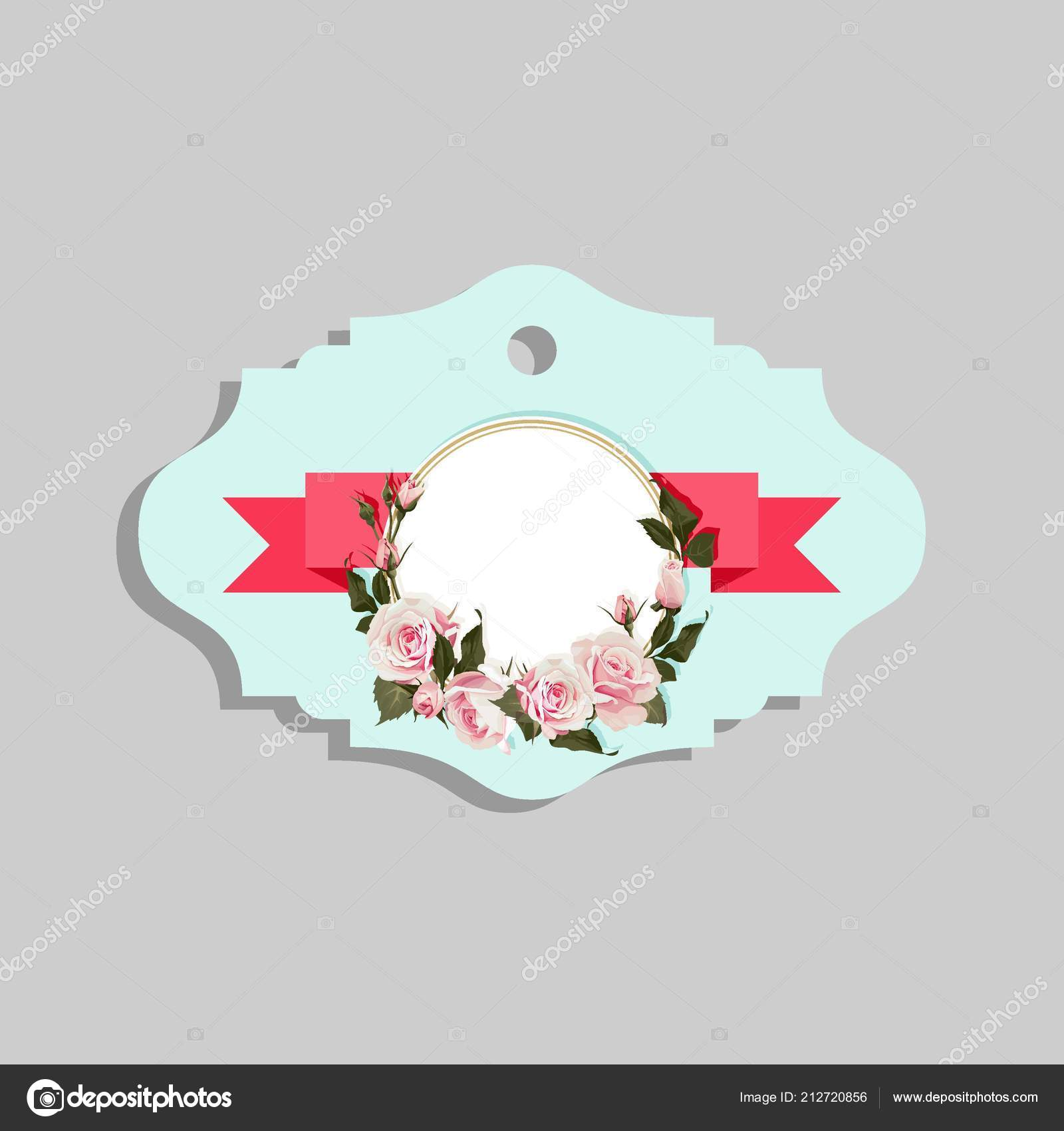 Images Decorative Shapes Clip Art Flowered Gift Tag