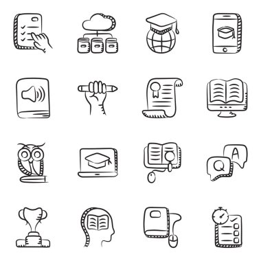Pack of Education Doodle Icons icon