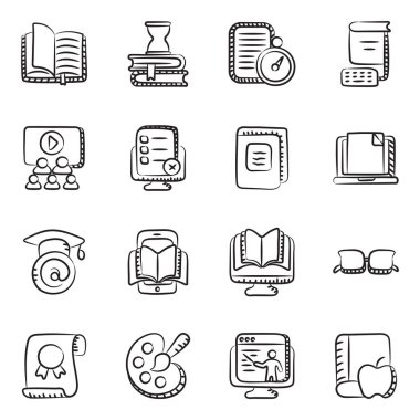 Education and Knowledge Doodle Icons Pack icon