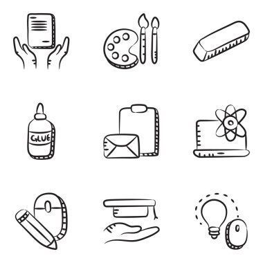 Education and Study Doodle Icons Pack icon