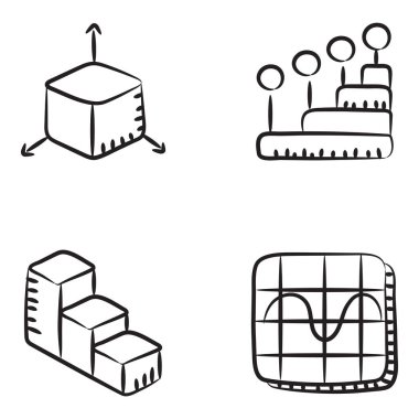 Corporate Charts and Infographic Line Icons Pack icon