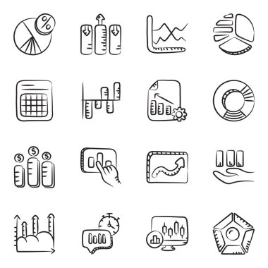 Business and Data Infographic Line Icons Pack icon