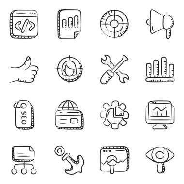 Seo Icons in Modern Linear Style Pack icon