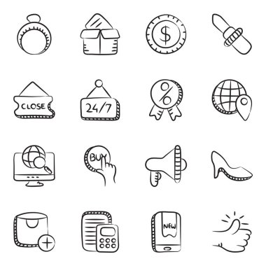 Unique Business and Shopping Icons In Linear Style Pack icon
