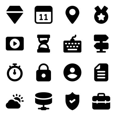 Business Elements Filled Icons Pack icon