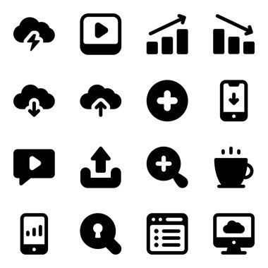 Pack of Seo and Business Solid Icons icon