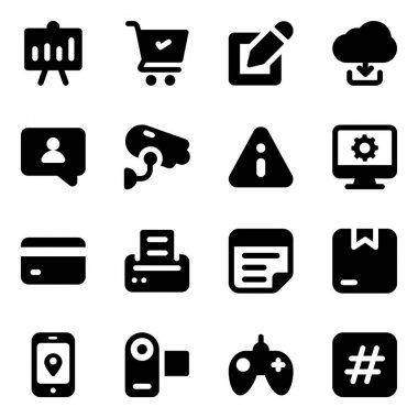 Trendy Corporate and Seo Icons Pack icon
