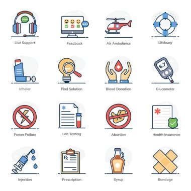 Emergency Icons in Flat Style Pack icon