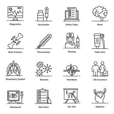 Emergency and Medical Icons in Flat Style Pack icon