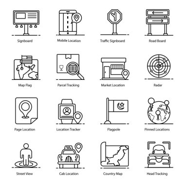 Maps and Geolocation Flat Icons Pack icon