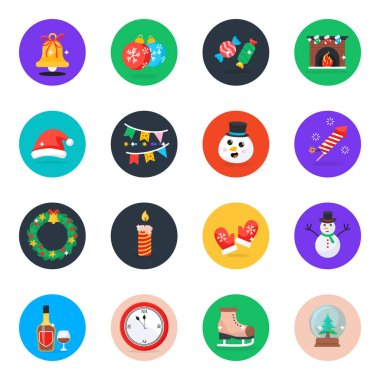 Pack of Unique Christmas Event Flat Icons icon