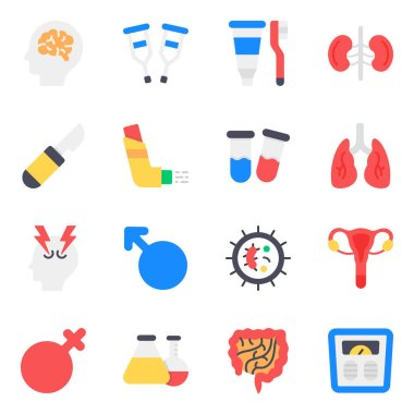 Pack of Healthcare Flat Icons icon