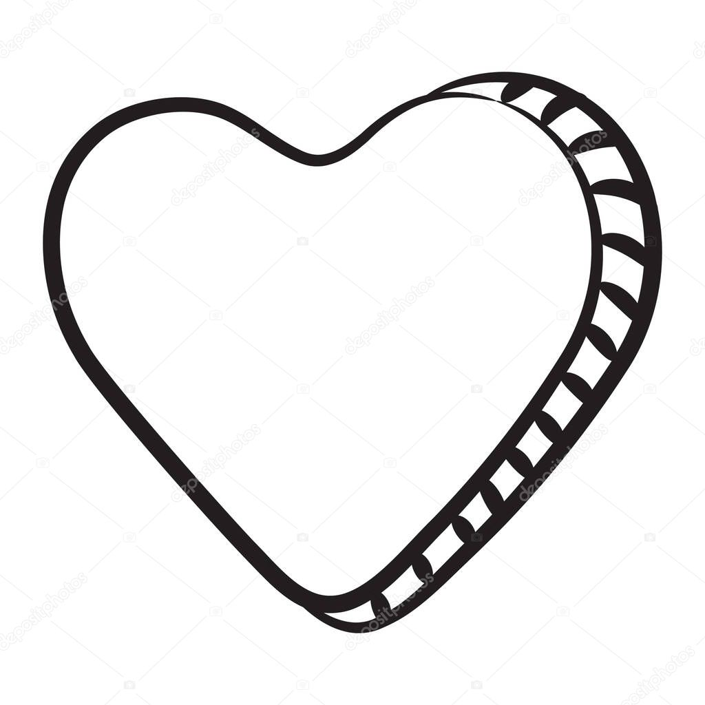 Heart symbol, favorite icon in line style icon
