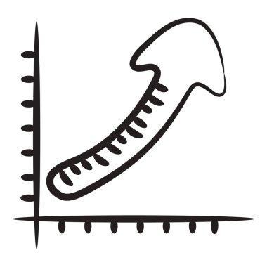 Basic An editable vector style of growth arrow icon
