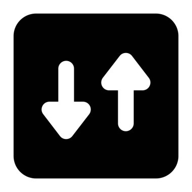 MobileOpposite arrows, directional arrows in modern solid style icon